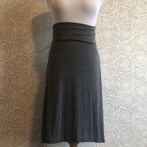 MAX STUDIO Grey Cotton Skirt